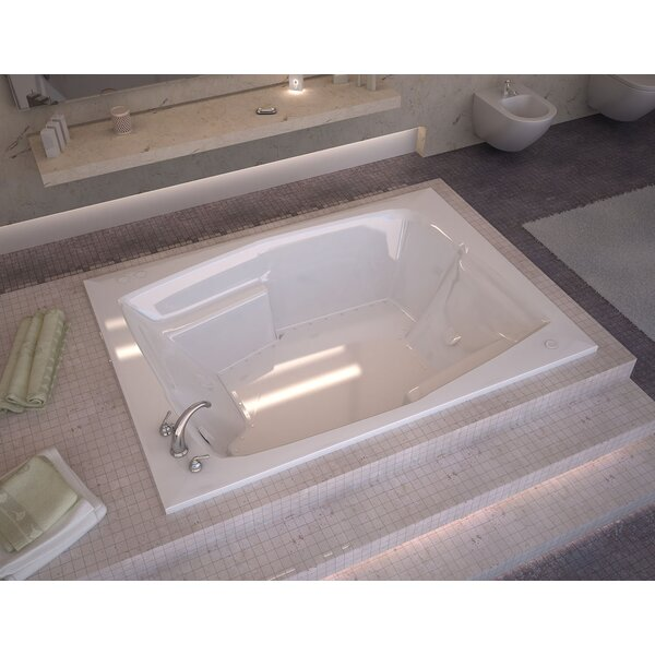 St. Nevis 71.75 x 53.75 Rectangular Air Jetted Bathtub with Drain by Spa Escapes