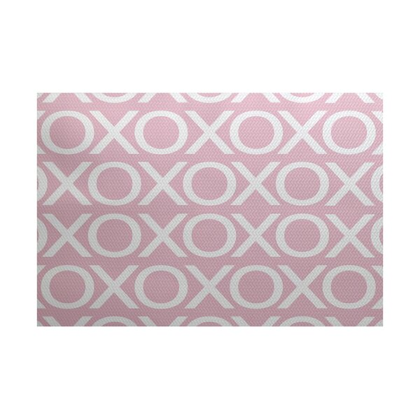 Valentine's Day Pale Pink Indoor/Outdoor Area Rug by The Holiday Aisle