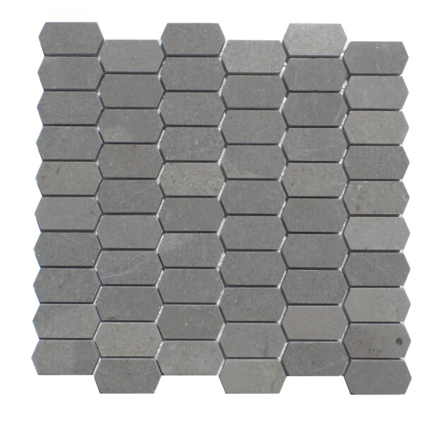 Honeycomb Honed 1 x 2 Natural Stone Mosaic Tile in London Ash by Mulia Tile
