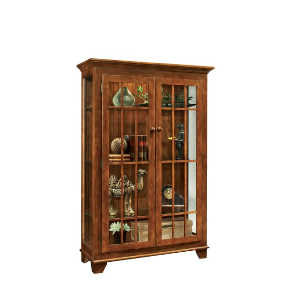 Shelia Lighted Curio Cabinet by Darby Home Co