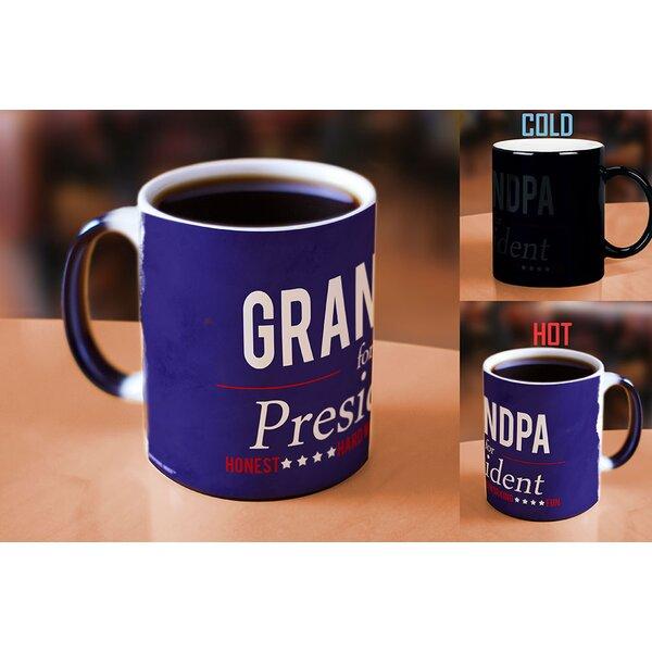 Grampian Grandpa for President Heat Reveal Ceramic Coffee Mug by Latitude Run