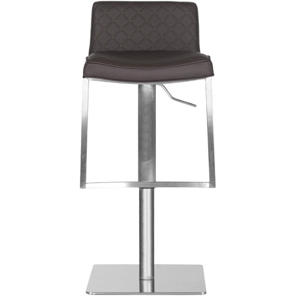 Claudio Adjustable Height Swivel Bar Stool by Safavieh