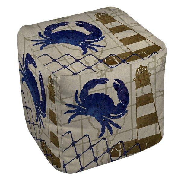 Vineyard Cube Ottoman by Breakwater Bay