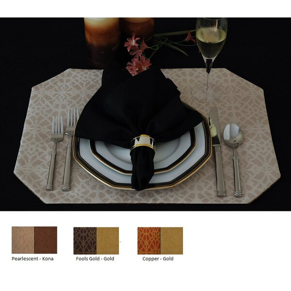 Richmond Reversible Rectangle Placemat (Set of 2) by Pacific Table Linens