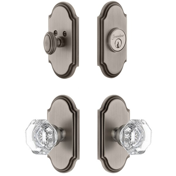 Arc Single Cylinder Knob Combo Pack with Chambord Knob by Grandeur