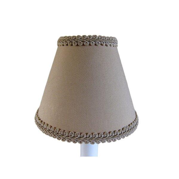 Southern Suntan 7 H Fabric Empire Lamp shade ( Screw on ) in Brown