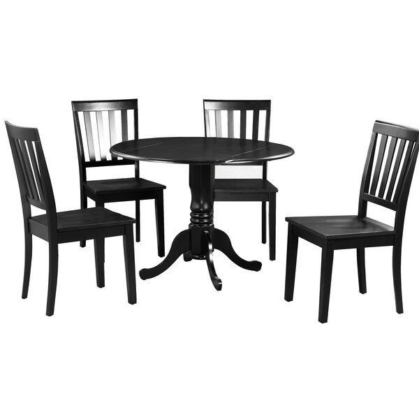 Shorewood 5 Piece Extendable Solid Wood Dining Set by August Grove