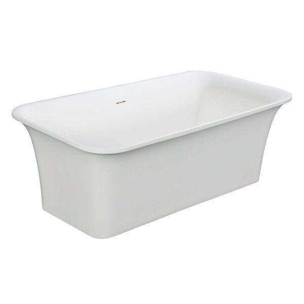 Aqua Eden 67 x 35 Freestanding Soaking Bathtub by Kingston Brass
