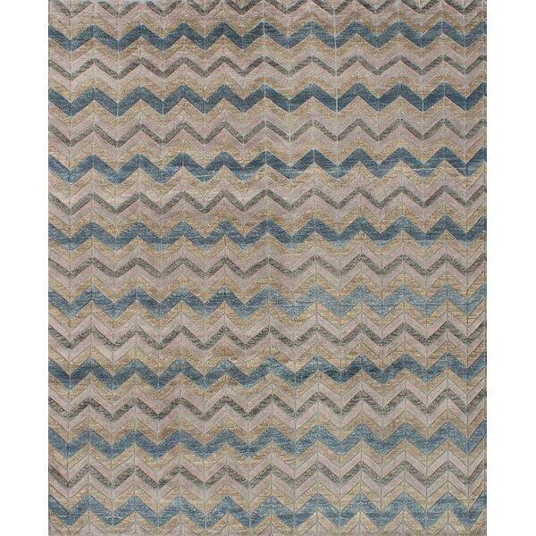 Payton Hand-Knotted Beige/Gray Area Rug by Brayden Studio