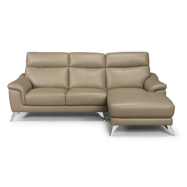 Zurcher Leather Sofa by Orren Ellis