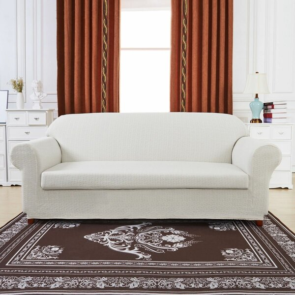 Windmill Jacquard Box Cushion Loveseat Slipcover by Winston Porter