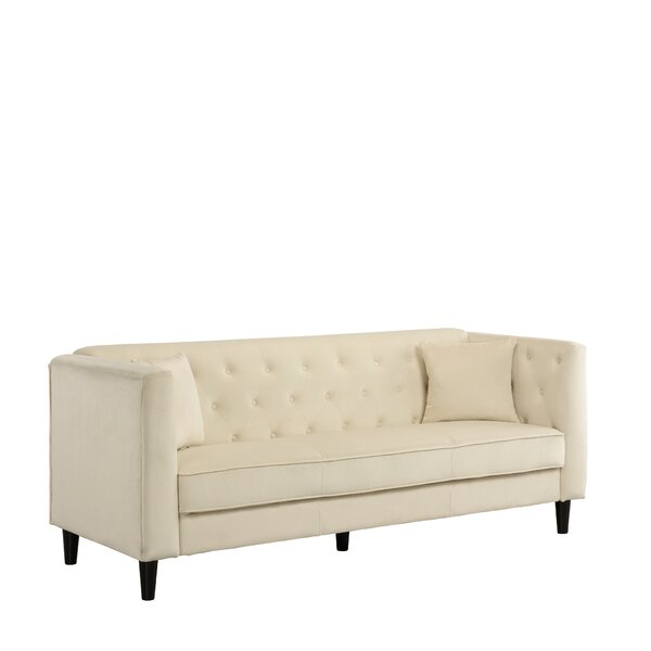 Cool Trendy Rickey Tufted Standard Sofa by Mercer41 by Mercer41