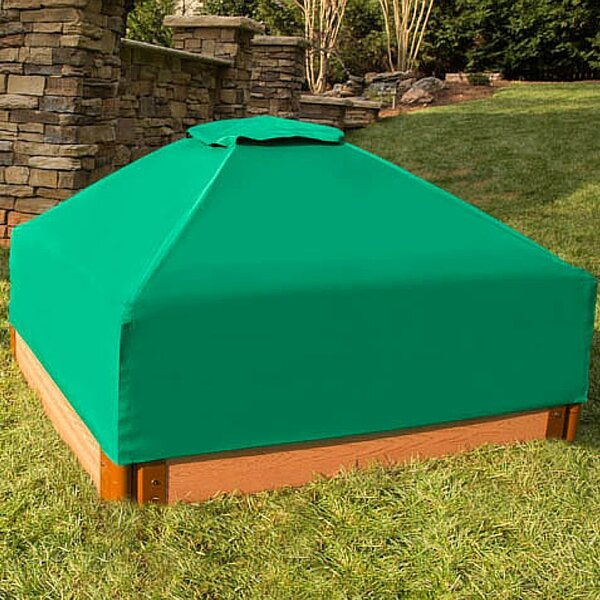 One Inch Series 4 ft. Square Sandbox with Cover by Frame It All