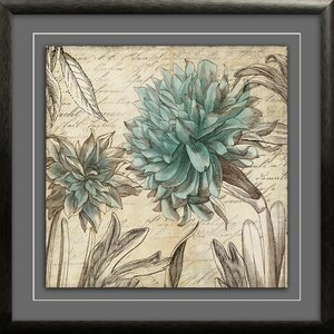 Blue Botanical II Framed Graphic Art Print by Star Creations