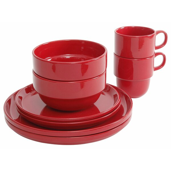 8 Piece Dinnerware Set, Service for 2 by Gibson