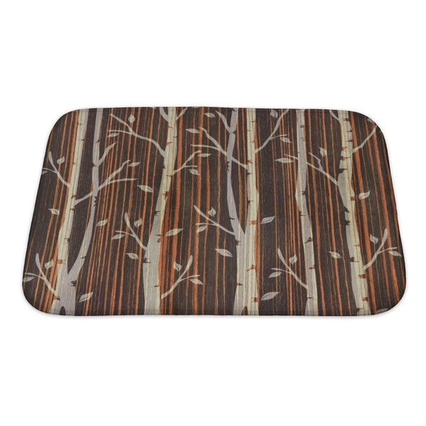 Nature Decorative Trees Ebony Wood Bath Rug by Gear New
