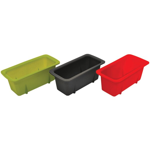 3 Piece Starfrit Silicone Mini Loaf Pan Set by Starfrit