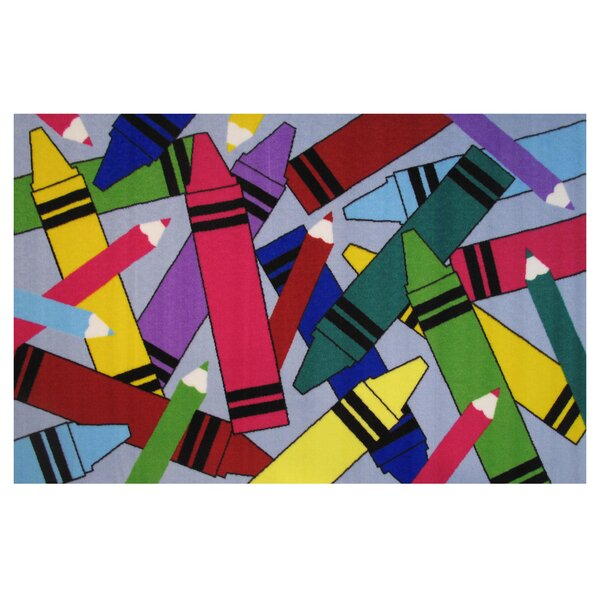Fun Time Crayon and Pencil Area Rug by Fun Rugs