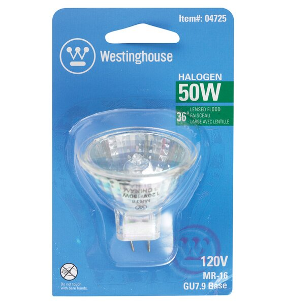 50W GU7.9 Dimmable Halogen Edison Floodlight Light Bulb by Westinghouse Lighting