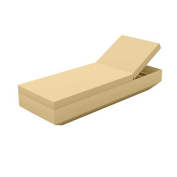 Vela Sun Reclining Chaise Lounge with Cushion