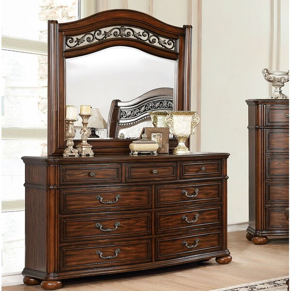 Laguna 9 Drawer Double Dresser with Mirror by Enitial Lab
