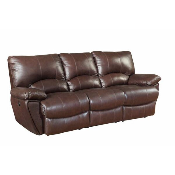 Alicea Leather Reclining Sofa by Canora Grey