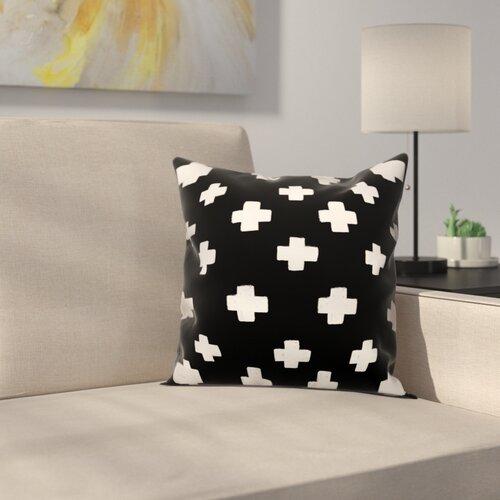 Latitude Run Principato Nutting Black Swiss Cross Pillow Sham Wayfair