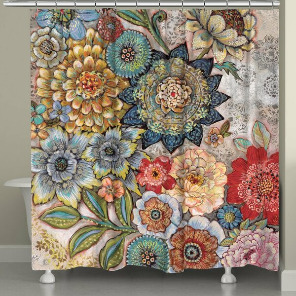 Aidan Boho Bouquet Shower Curtain by World Menager