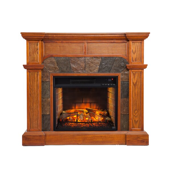 Shanks Mission Oak Corner Electric Fireplace by Alcott Hill Alcott Hill
