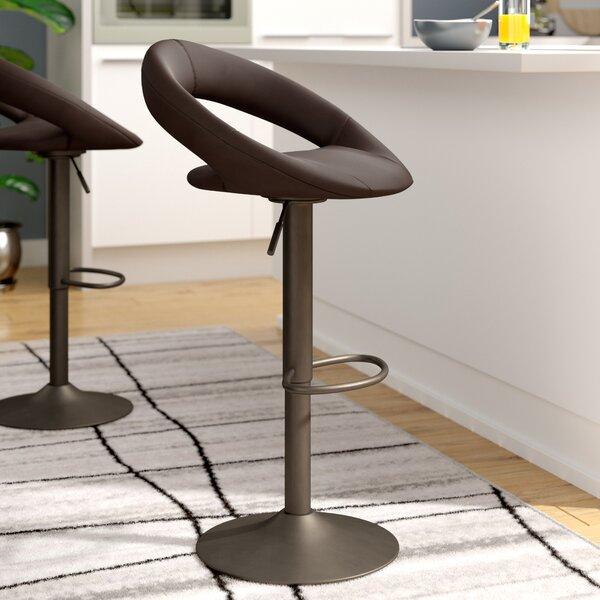 Calaveras Adjustable Height Swivel Bar Stool (Set of 2) by Wade Logan