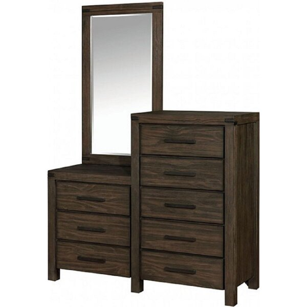 LinoLakes 8 Drawer Double Dresser with Mirror by Millwood Pines