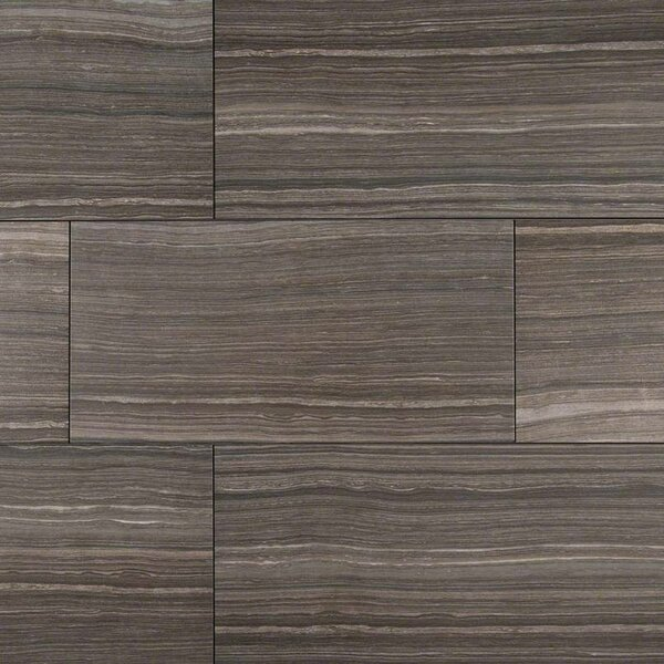 Eramosa 12 x 24 Porcelain Wood Look/Field Tile in Gray by MSI