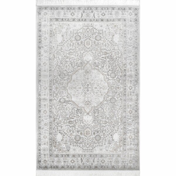 Navy Silver Area Rug by Ophelia & Co.