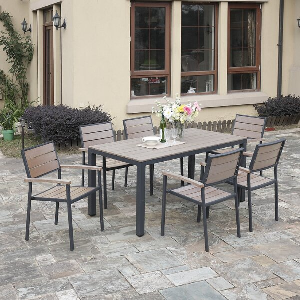 Bequette 7-Piece Dining Set by A&J Homes Studio