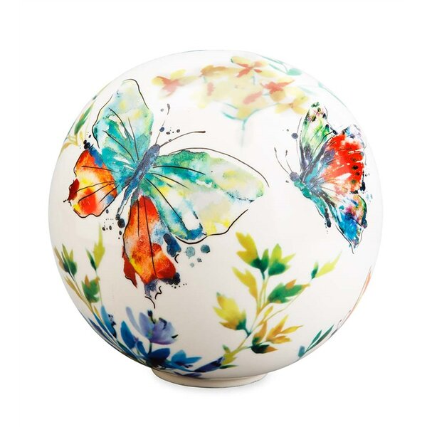Butterflies Garden Globe by Wind & Weather