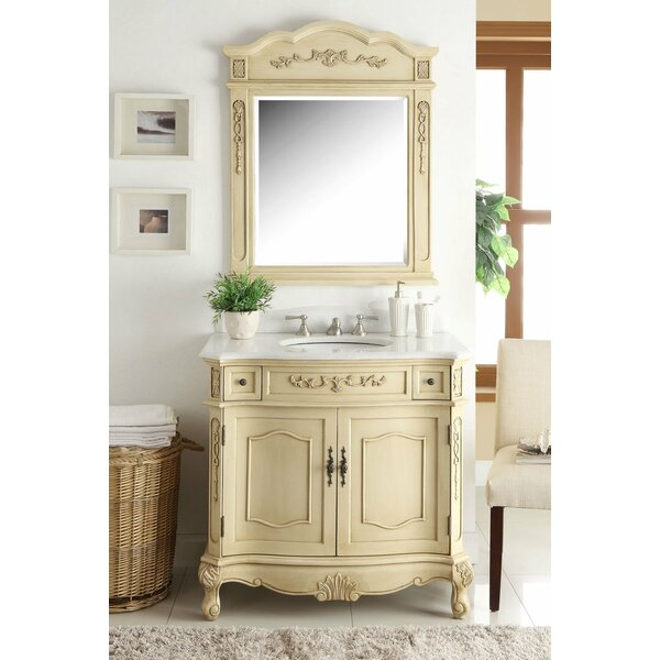 Gaskins 36 Single Bathroom Vanity Set with Mirror by House of Hampton