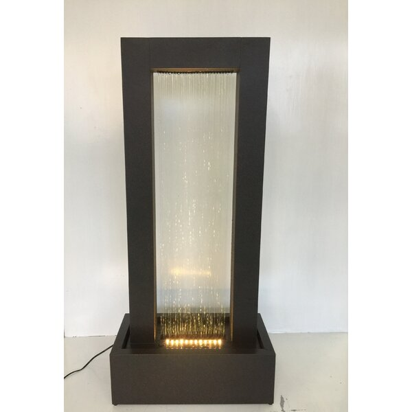 Metal Wall of Water Fountain with Light by Hi-Line Gift Ltd.