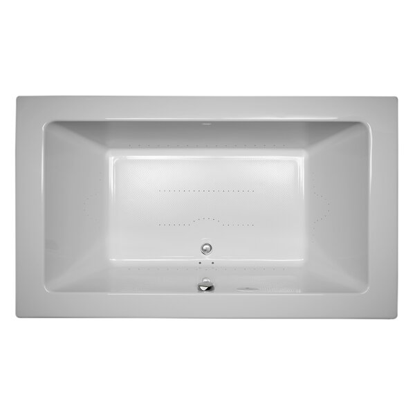 Sia Chroma Right-Hand 72 L x 42 W Drop In Pure Air Bathtub by Jacuzzi®