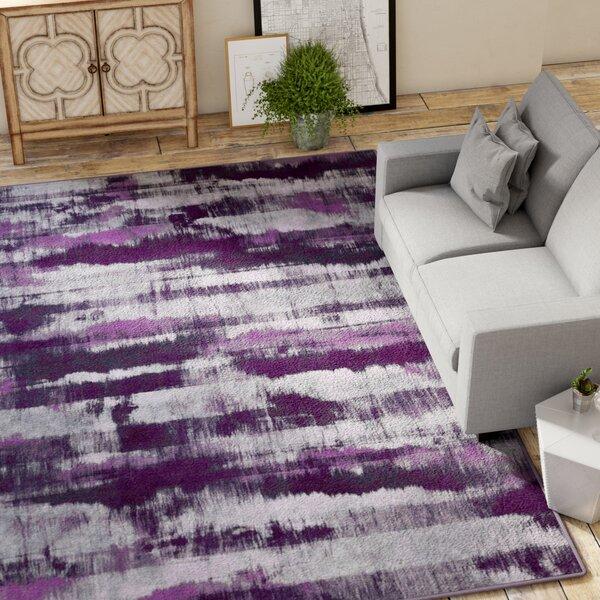 Demetrius Purple/Gray Area Rug by Williston Forge
