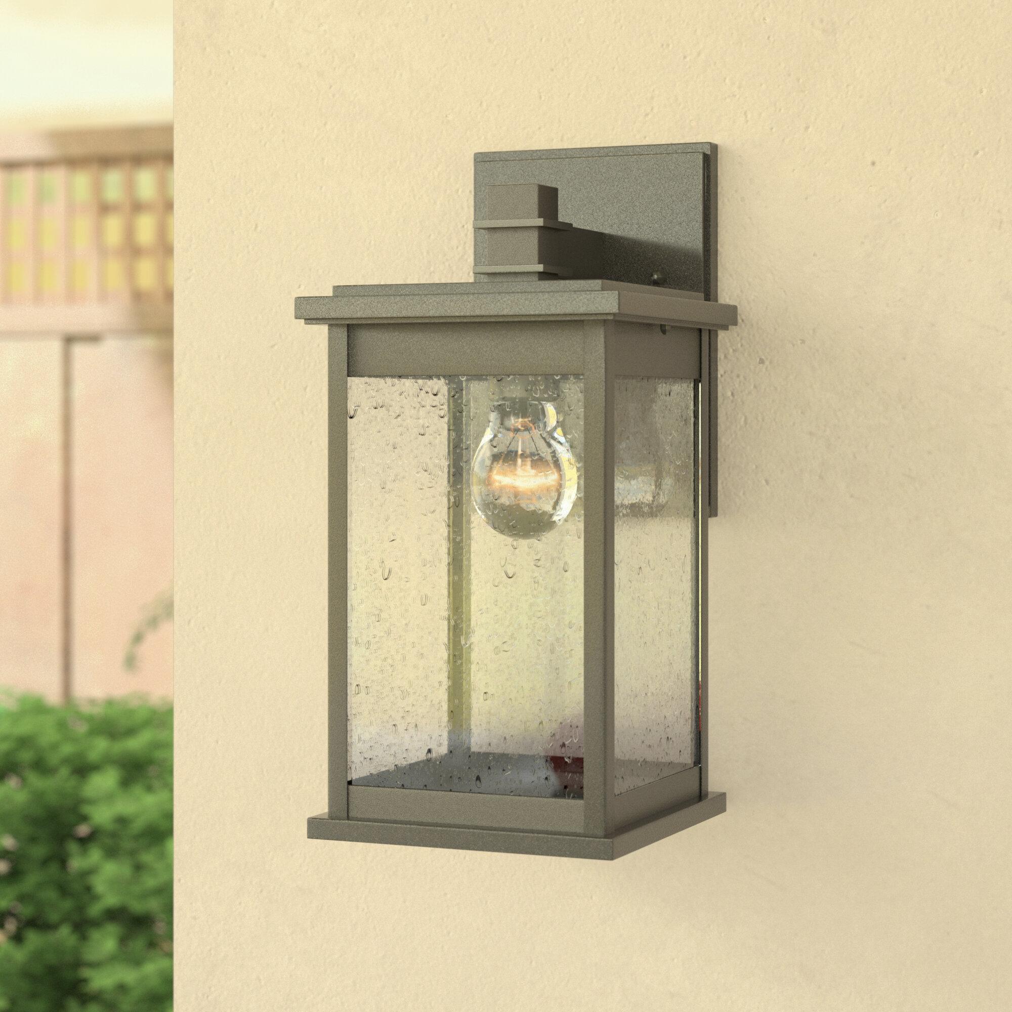 Three Posts Bermuda 1-Light Outdoor Wall Lantern & Reviews   Wayfair