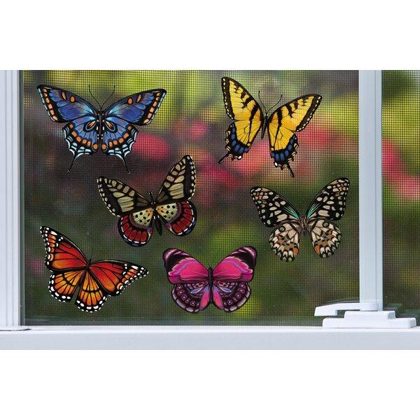 Radiant Butterflies 78 Piece Screen Door Protector Set by Evergreen Flag & Garden