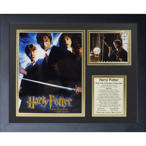 Harry Potter and the Chamber of Secrets Framed Memorabilia by Legends Never Die