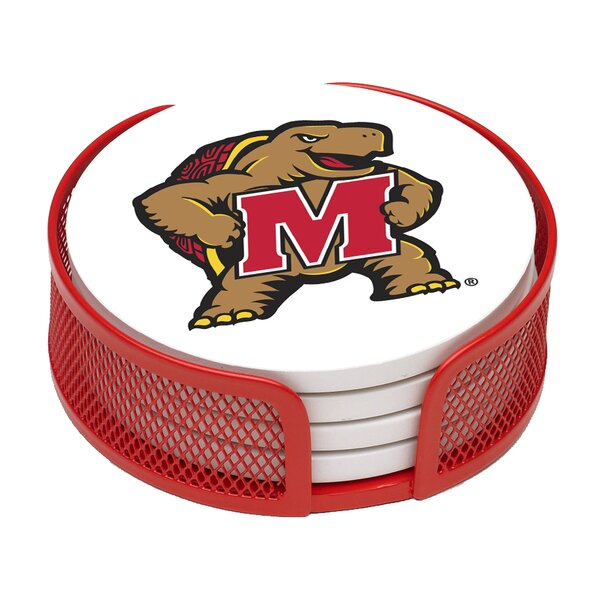 5 Piece University of Maryland Collegiate Coaster Gift Set by Thirstystone