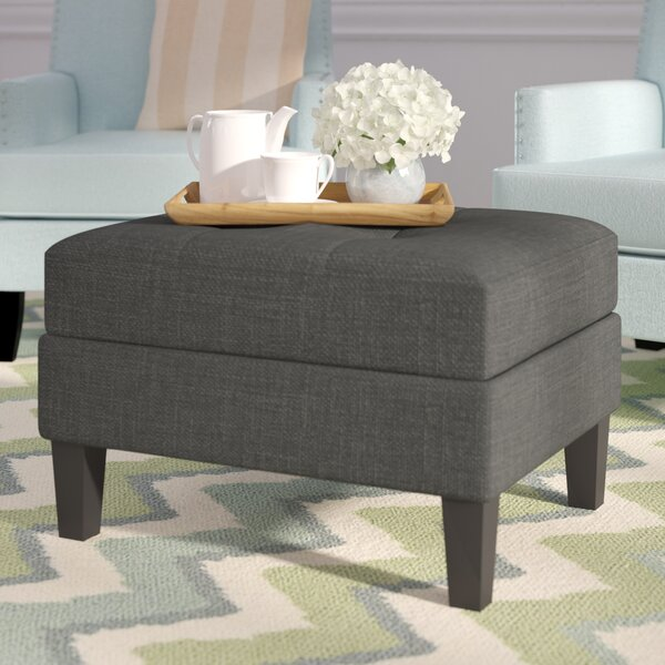 Burgess Tufted Rectangle Storage Ottoman by Beachcrest Home Beachcrest Home