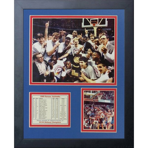 1988 Kansas Jayhawks Framed Photographic Print by Legends Never Die