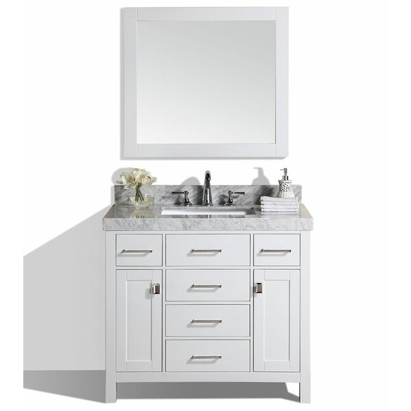 Laub 41 Single Modern Bathroom Vanity with Mirror by House of Hampton