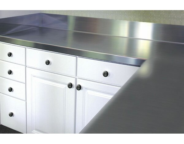 Stainless Steel Counter Top with Backsplash by A-Line by Advance Tabco