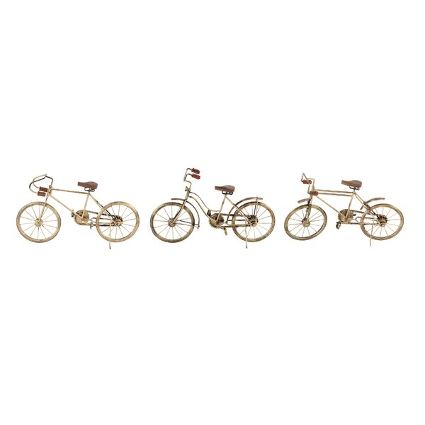 Kuhl Eclectic Metal Bicycle 3 Piece Vehicle Set by Williston Forge