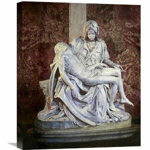'Pieta' by Michelangelo Painting Print on Wrapped Canvas by Global Gallery