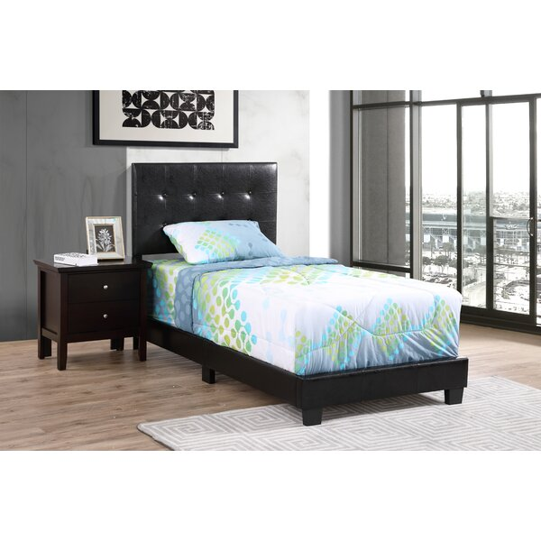 Stevie Upholstered Standard Bed by Wrought Studio